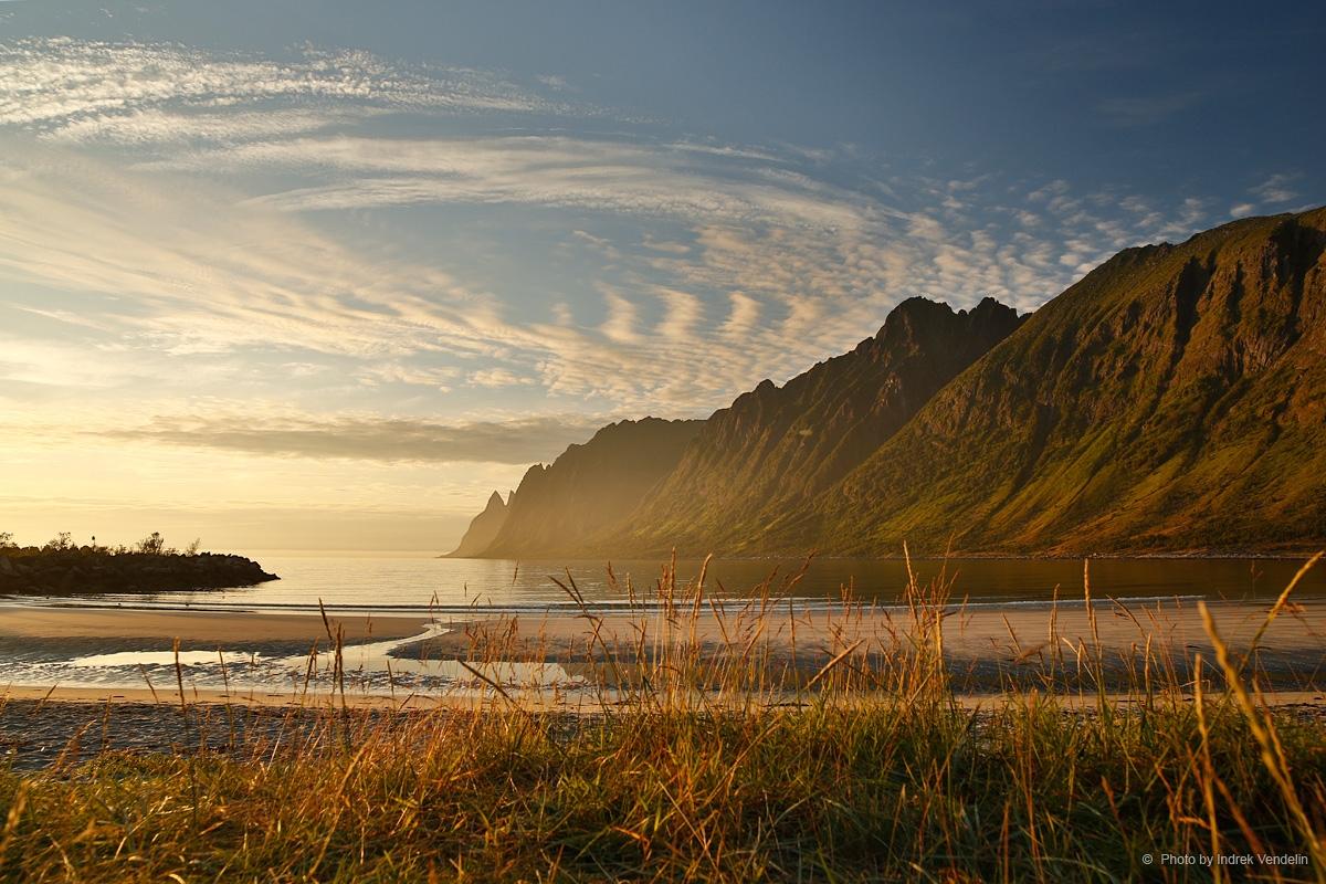 Kuldse peldiku laht aka Ersfjordstranda Senja saarel
